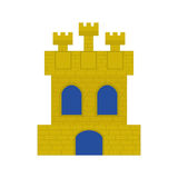 Spanish castle shield isolated icon. Vector illustration design Stock Photography