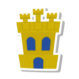 Spanish castle shield isolated icon. Vector illustration design Stock Photos