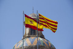 Spanish and Catalan Flag Royalty Free Stock Photography
