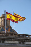 Spanish and Catalan flag Royalty Free Stock Image