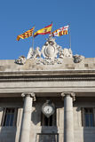 Spanish and Catalan flag Royalty Free Stock Photos