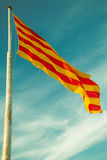 Spanish and Catalonian flag Stock Photos