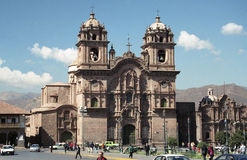 Spanish cathedral in Cuzco Royalty Free Stock Images
