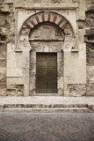 Spanish cathedral muslim arch door entrance. Mezquita. Cordoba. Royalty Free Stock Images
