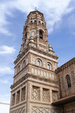 Spanish Cathedral Tower. In Aragonese architectural style Stock Images