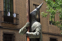 Spanish catholic sect statue. Segovia, Spain. Statue representing the holy week in Segovia, Spain. Spanish fundametalist sect Stock Images