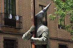 Spanish catholic sect statue. Segovia, Spain Stock Images