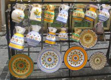 Spanish ceramic pottery, Toledo, Spain Royalty Free Stock Images