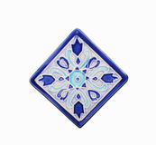 Spanish ceramic tile. Spanish ceramic tile in blue Stock Photography