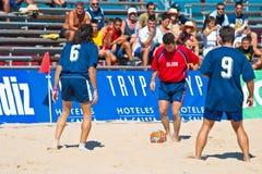 Spanish Championship of Beach Soccer , 2005 Stock Photo