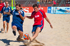 Spanish Championship of Beach Soccer , 2005 Royalty Free Stock Photography