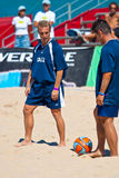 Spanish Championship of Beach Soccer , 2005 Stock Photo