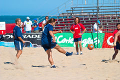 Spanish Championship of Beach Soccer , 2005 Stock Image