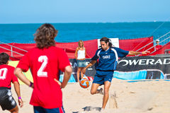 Spanish Championship of Beach Soccer , 2005 Royalty Free Stock Photos