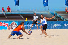 Spanish Championship of Beach Soccer , 2006 Royalty Free Stock Images