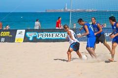 Spanish Championship of Beach Soccer , 2006 Stock Image