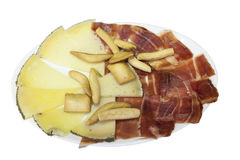 Spanish cheese and ham Royalty Free Stock Images