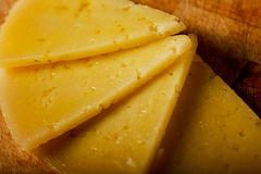 Spanish Cheese Slices Detailed View Royalty Free Stock Photo