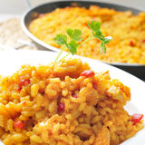 Spanish chicken paella Royalty Free Stock Photo