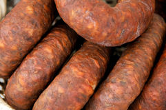 Spanish chorizo Royalty Free Stock Image