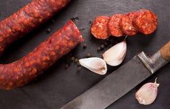 Spanish Chorizo. Royalty Free Stock Images