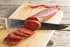 Spanish chorizo Royalty Free Stock Photo