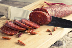 Spanish chorizo Royalty Free Stock Photos