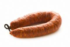 Spanish chorizo pork sausage  Stock Images