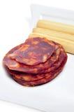 Spanish chorizo tapas Stock Image