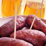 Spanish chorizos tapas Royalty Free Stock Image