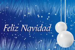 Spanish Christams card Stock Images