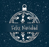 Spanish christmas background or greeting card Stock Image