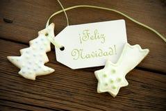 Spanish Christmas Greetings Royalty Free Stock Photos