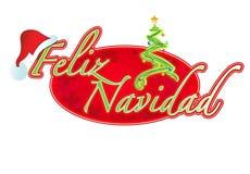 Spanish - Christmas sign illustration design Royalty Free Stock Photos