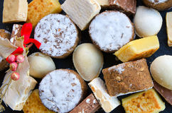 Spanish  Christmas sweets Stock Images