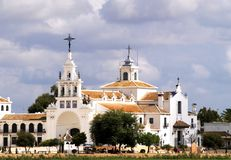 Spanish Church. El Rocio Church in the Huelva area in Spain Stock Photo