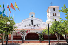 Spanish church on the Costa de. Beautiful Spanish church on the Costa del Sol in Spain on a sunny day Royalty Free Stock Image