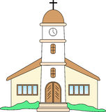 Spanish Church stock illustration