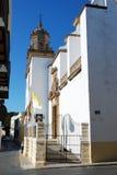 Spanish church, Sanlucar de Barrameda. Royalty Free Stock Photography
