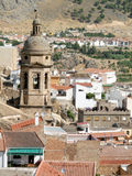 Spanish church tower in Loja. Spanish church tower and roofs in Loja, southern Spain royalty free stock photography