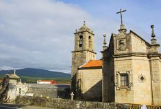 Spanish church, the way to Santiago de Compostela. Spain Stock Images