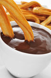 Spanish churros con chocolate Royalty Free Stock Photography
