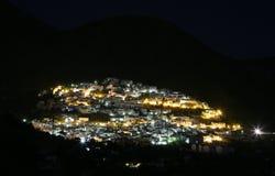 Spanish city at night Stock Photos