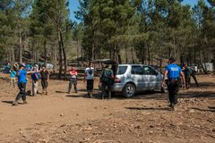 The Spanish Civil Guard intervenes a car becuase of narcotics trafficking in the Lost Theory psytransce music festival