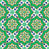 Spanish classic ceramic tiles. Seamless patterns. Stock Photo