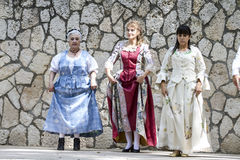 Spanish classical and popular dance, during the re-enactment of Stock Photography