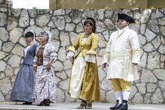 Spanish classical and popular dance, during the re-enactment of Stock Image