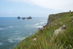 Spanish coast in Asturias. Royalty Free Stock Photos
