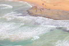 Spanish coast. Beautiful beaches to walk and enjoy Stock Photos