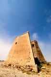 Spanish Coastal Tower of Roldan. Coastal stone watchtower on the south coast of Spain at the Mesa Roldan Royalty Free Stock Photo